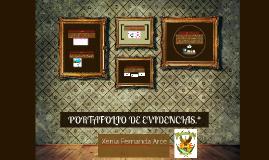 PORTAFOLIO DE EVIDENCIAS.*
