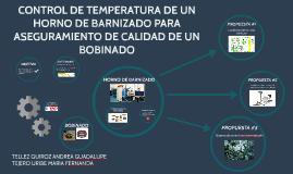 CONTROL DE TEMPERATURA DE UN HORNO DE BARNIZADO PARA EL ASEG