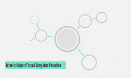 Israel's Unjust/Forced Entry into Palestine