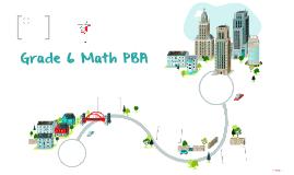 Grade 6 Math PBA