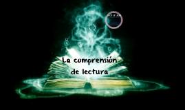La comprensión de lectura