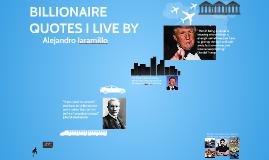 Billionaire quotes english