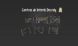 Centros de Interés Decroly