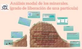 Análisis modal de los minerales.