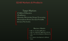 GEAR Markets & Products