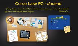 Corso base PC - docenti