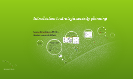 Introduction to Management of Information Systems Security