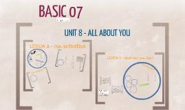 BASIC 07 - UNIT 8