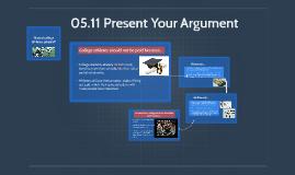 05.11 Present Your Argument