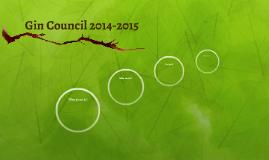Gin Council 2014-2015