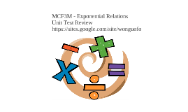 Copy of MCF3M Exponential Relations Review