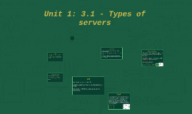Unit 1: 3.1 - Types of servers