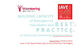 Building Capacity of Managers of Volunteers and Best Practice in Volunteer-Involving Organisations
