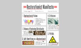 Restorationist Manifesto