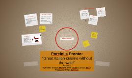 Porcini's Pronto: