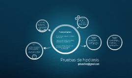 Pruebas de hipótesis - Parte I