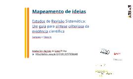 MI - Estudos de Revisão Sistemática: Um guia para síntese criteriosa da evidência científica - Sampaio e Mancini