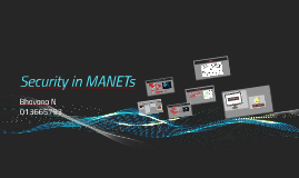 Security in MANETs