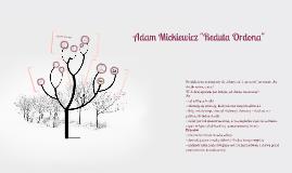 """Adam Mickiewicz """"Reduta Ordona"""""""