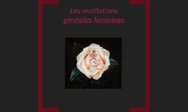 Les mutilations génitales féminines