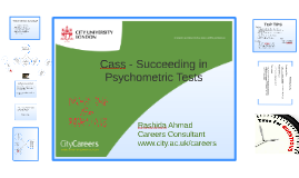 Cass - Succeeding in Psychometric Tests 12 October 2016