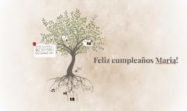 Feliz cumpleaños Maria!