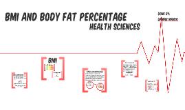 BMI and body fat percentage