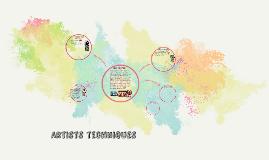 Artists Techniqes