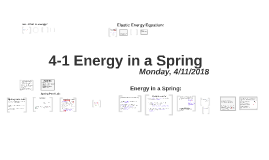 Lesson 4-1 Energy in a Spring