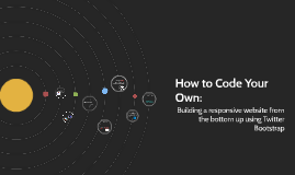 How to Code Your Own: