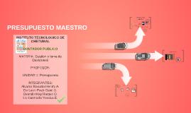 Copy of presupuesto maestro