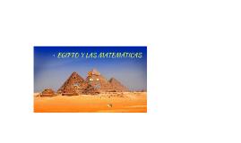 EGIPTO Y LAS MATEMÁTICAS