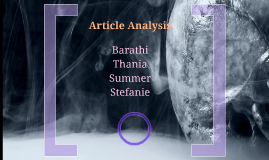 Article Analysis