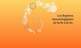 Les Repères chronologiques de la 6e à la 3e.