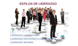 ESTILODS DE LIDERAZGO
