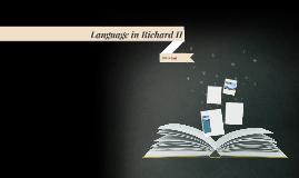 Language in Richard II