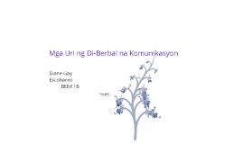 Copy of Uri ng Di-Berbal na Komunikasyon