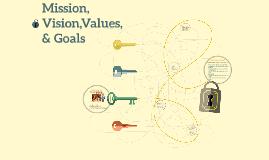 Mission, Vision,Values, & Goals