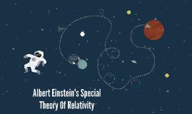 Copy of Albert Einstein's Special Theory Of Relativity