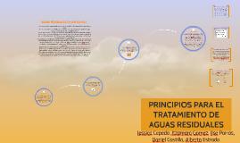 PRINCIPIOS PARA EL TRATAMIENTO DE AGUAS RECIDUALES