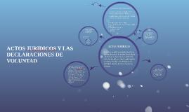 ACTOS JURIDICOS Y LAS DECLARACIONES DE VOLUNTAD