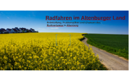 Radfahren im Altenburger Land