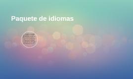 PAQUETES DE IDIOMA