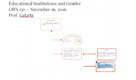 Educational Institutions and Gender