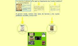 Las fuentes históricas y su importancia