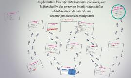 Copy of Implantation d'un référentiel commun québécois pour la franc