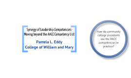 Synergy of Leadership Competencies:  Moving beyond the AACC Competency List