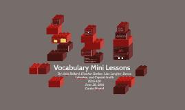 Vocabulary Mini Lessons
