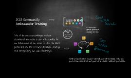 2013 Community Ambassador Training