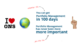 How to implement portfolio management in 100 days
